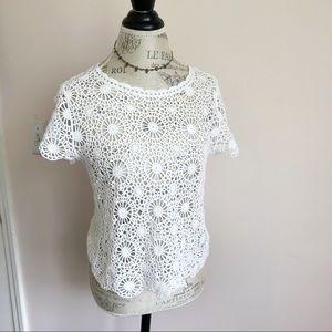Alfani Crochet Top Or Cover Up